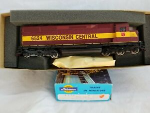 ATHEARN HO BLUE BOX #4174 WISCONSIN CENTRAL SD-45 No. 6524 - NEW OLD STOCK