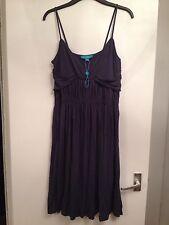 BNOWT Ladies Monsoon Petrol Blue Summer Jersey Knee Length Dress - Size 10