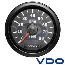VW Bug Buggy RPM Tachometer VDO Cockpit Series 333959 Mini 8000 RPM, 2 1/16""