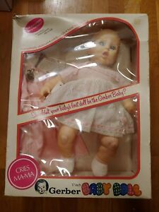 "Vintage Gerber Baby Doll 1979 Cries Ma-Ma Eyes move Side to Side 17"" NIB"