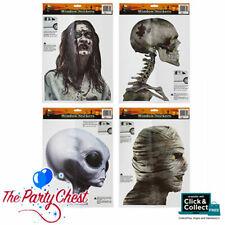 Carácter de Halloween Ventana Pegatinas para perfeccionar y coche Zombie, cráneo, Alien & Mummy