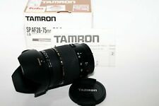 Tamron SP A09E 28-75mm f/2.8 LD Di XR AF Lens Boxed for Canon + Hood +manuals