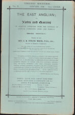 The East Anglian or Notes & Queries Rv Evelyn White Vol X Jan-Dec 1904 12 iss