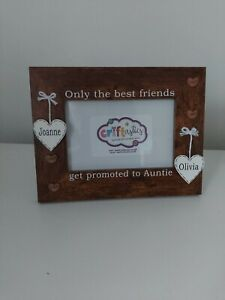 Only The Best Friends Get Promoted To Auntie 4x6 Photo Frame, friendship baby