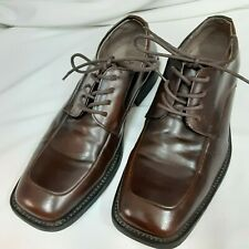 Borelli Mens Lace Up Dress Shoes Brown Size 8 1/2