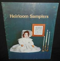 Vtg 78 Heirloom Shop XS Cross Stitch HEIRLOOM SAMPLERS Chart Pattern Book