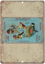 "Cats Brand Firecracker Package Art 10"" X 7"" Reproduction Metal Sign ZD99"