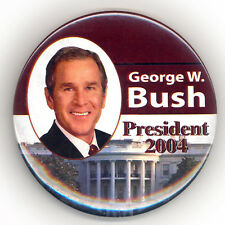 "Attractive  ~  "" GEORGE W. BUSH / PRESIDENT 2004 ""  ~  2004 Campaign Button"