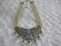 "HEIDI DAUS""Good To Be Queen"" (Aqua) 3-Row Beaded Necklace (orig.$329.95)-LAST 1!"