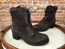 Miz Mooz NYC Charcoal Grey Suede Sloanne Lace-up Ankle Boots 39 8.5 9 NEW