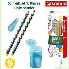 Stabilo Linkshänder Schulstart Set EASYcolors, Spitzer blau, Bleistift, Radierer