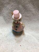 Vintage Spun Cotton/Mica Bobble Head Snowman Christmas Figure Japan (M10)