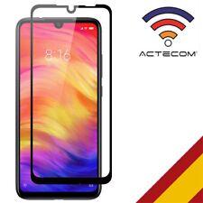 ACTECOM® PROTECTOR PANTALLA PARA Xiaomi Redmi Note 7 5D NEGRO CRISTAL TEMPLADO
