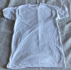 FRUIT OF THE LOOM Vintage Unworn Single Stich Men's White T-Shirt Medium 38-40