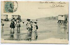 CPA - Carte Postale - France - Boulogne su Mer - Le Bain de Pieds sur la Plage