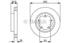 1x BOSCH Disco de freno delantero Ventilado 280mm 0 986 479 C09