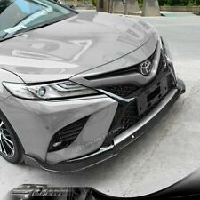 For 18-20 Toyota Camry Xe Xse 8Th Carbon Look Front Bumper Lip Splitter 3Pcs