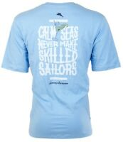 TOMMY BAHAMA Men T-Shirt CALM SEAS Sailors Boat Martini SKY BLUE Camp XL-3XL $45