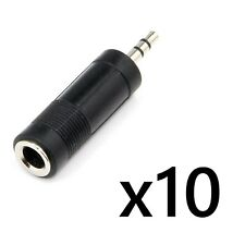 10 pcs 6.35 mm 1/4 Male to 3.5 mm Stereo Female Stereo Jack Adapter Convertor