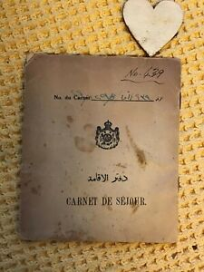 Vintage 1949 Work Diary Permit From IPC K-3 Station Kirkuk Iraq with duty stamps