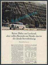 or. Farbreklame Pkw Mercedes-Benz 200 Heckflosse Servolenkung Stuttgart IAA 1967