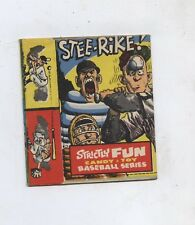 Strictly Fun Baseball series Candy and toy series card box John severin art