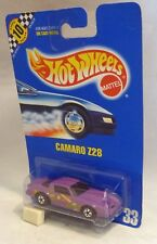 HotWheels 33 Camaro Z28 Purple Black Wall Wheels Blue Card