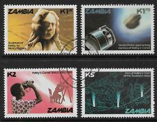 STAMPS-ZAMBIA. 1986. Halley's Comet Set. SG: 464/67. Fine Used.
