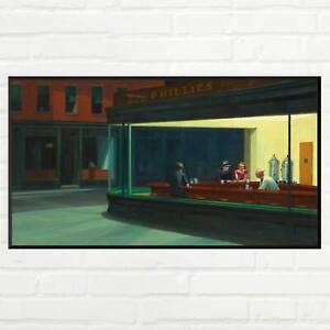 Edward Hopper Nighthawks art print, 1942, Mid Century Modern, American Urban