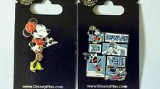 Minnie Mouse Beware of Yeti + Chic girl with shades - Disney Park Pins - NEW