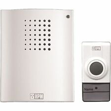 HPM WIRELESS DOOR BELL CHIME D642/01 White 32 Tunes Battery Included