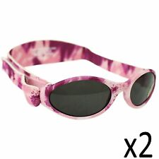 Childs Sunglasses Kidz Banz Adjustable Camo Pink Diva Girls Adventure Strap x2