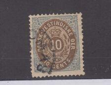 More details for danish west indies 1870 10c p12 1/2 sg35 cat £170 vfu jk2516