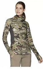Under Armour Womens Small Reactor Forest Camo Mid Season Cozy Neck Pullover NWT