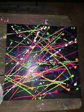 """Electric� 24x24 Acrylic painting on canvas neon black light paint"