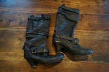 Kurt Geiger knee high black leather slouch boots, size 7 (40)