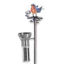 Regenmesser Vogel bunt Metall / Gartenstecker Gartendeko