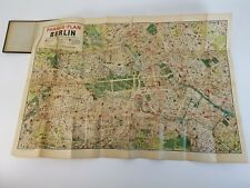 Vintage Antique Pharus Plan Berlin POCKET MAP Booklet 1903 1930's WWI WWII RARE