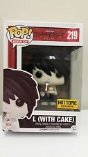 Funko Pop Animation Shonen Jump Death Note L with Cake #219 Hot Topic Exclusive