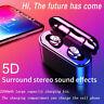 Bluetooth 5.0 Wireless Headphones TWS Headset Earphones Mini Earbuds 5D Stereo