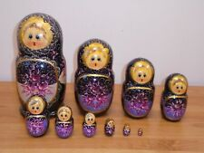 10 Piece Hand Painted Russian Doll Set