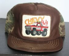31523675347 Vintage CHEVY 4X4 Monster Truck Camo Camouflage Trucker Hat Patch Rare Made  USA