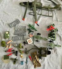 HASBORO GI JOE and other MILITARY TOYS LOT Chopper, Gatlin gun