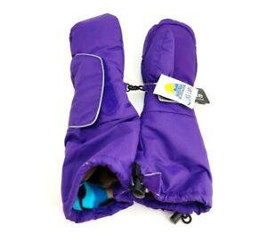 Winter Kids Girls 3M Thinsulate Snow Mittens Waterproof Warm Ski Gloves Purple