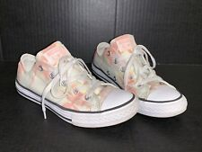 Converse Chuck Taylor All Star Ox Big Kid's Shoes Barely Green/Pale Coral/White