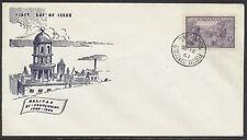 1949 #283 Halifax Bicentenary FDC, Jacobi Cachet, Toronto Postal Stn D CDS