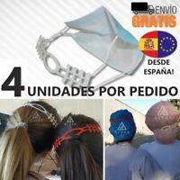 ⚕️SALVAOREJAS 👂 - 4 UNIDADES - ⭐ Mujeres, Hombres y Niños⭐ Sujeta Mascarilla 3D