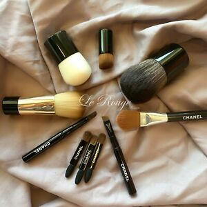 Chanel brush set lot of 10 ( foundation powder concealer eyeliner brow shadow)