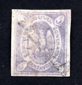 Bolivia 1868 stamp Mi#5 used CV=200€