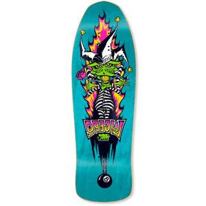 "Black Label Skateboard Deck Lucero 12XU 1989 Re-Issue Aqua Stain 10"" x 31.25"""